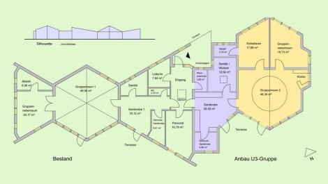 Entwurf Waldorfkindergarten Erweiterung Erftstadt
