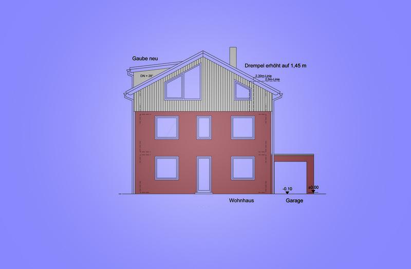 Entwurf Aufstockung Mehrfamilienwohnhaus