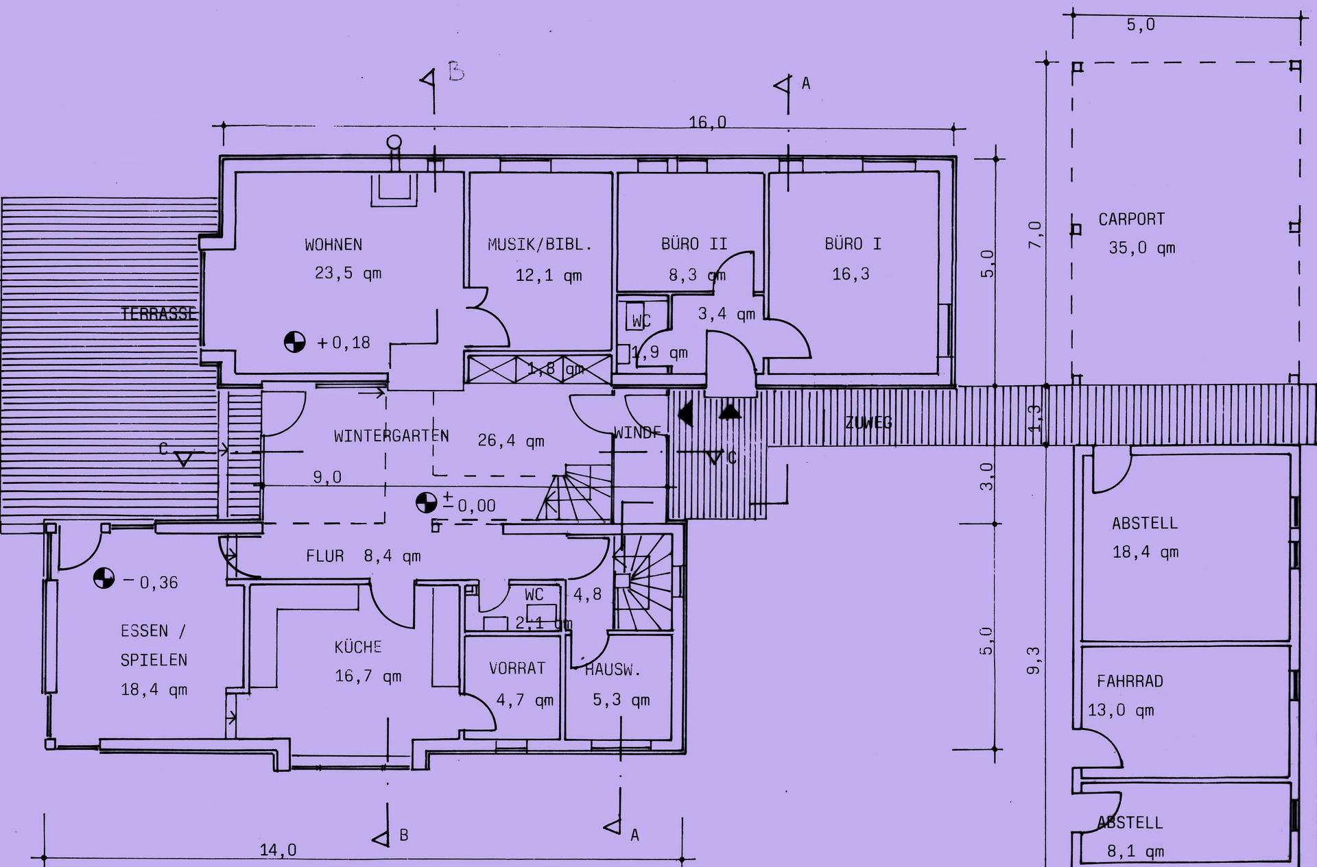Entwurf Einfamilien-Wohnhaus in der Eifel